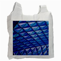 Lines Geometry Architecture Texture Recycle Bag (Two Side)
