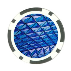 Lines Geometry Architecture Texture Poker Chip Card Guard (10 Pack)