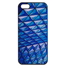 Lines Geometry Architecture Texture Apple iPhone 5 Seamless Case (Black)