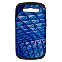 Lines Geometry Architecture Texture Samsung Galaxy S III Hardshell Case (PC+Silicone)