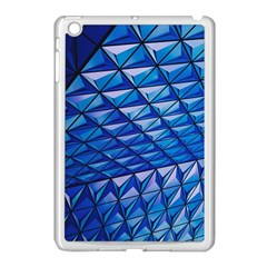 Lines Geometry Architecture Texture Apple iPad Mini Case (White)