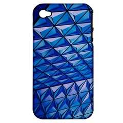 Lines Geometry Architecture Texture Apple iPhone 4/4S Hardshell Case (PC+Silicone)