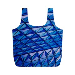 Lines Geometry Architecture Texture Full Print Recycle Bags (M)