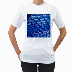 Lines Geometry Architecture Texture Women s T-Shirt (White)