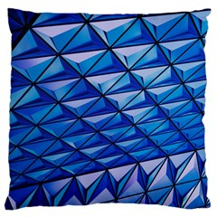 Lines Geometry Architecture Texture Large Flano Cushion Case (two Sides)