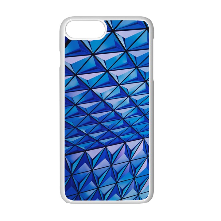 Lines Geometry Architecture Texture Apple iPhone 7 Plus White Seamless Case