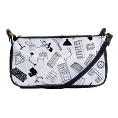 Furniture Black Decor Pattern Shoulder Clutch Bags