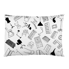 Furniture Black Decor Pattern Pillow Case (Two Sides)