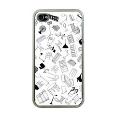 Furniture Black Decor Pattern Apple iPhone 4 Case (Clear)