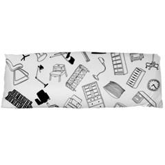 Furniture Black Decor Pattern Body Pillow Case Dakimakura (Two Sides)