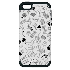 Furniture Black Decor Pattern Apple iPhone 5 Hardshell Case (PC+Silicone)