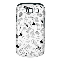 Furniture Black Decor Pattern Samsung Galaxy S III Classic Hardshell Case (PC+Silicone)