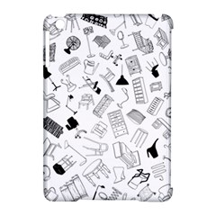 Furniture Black Decor Pattern Apple iPad Mini Hardshell Case (Compatible with Smart Cover)