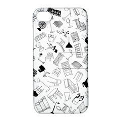 Furniture Black Decor Pattern Apple iPhone 4/4S Hardshell Case with Stand