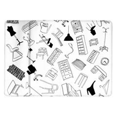Furniture Black Decor Pattern Samsung Galaxy Tab 10 1  P7500 Flip Case