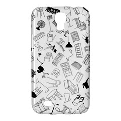 Furniture Black Decor Pattern Samsung Galaxy Mega 6 3  I9200 Hardshell Case