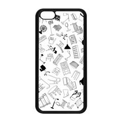 Furniture Black Decor Pattern Apple iPhone 5C Seamless Case (Black)