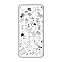 Furniture Black Decor Pattern Apple iPhone 5C Seamless Case (White)