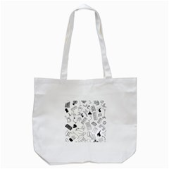 Furniture Black Decor Pattern Tote Bag (White)