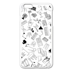 Furniture Black Decor Pattern Apple iPhone 6 Plus/6S Plus Enamel White Case