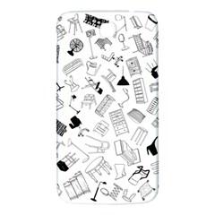 Furniture Black Decor Pattern Samsung Galaxy Mega I9200 Hardshell Back Case