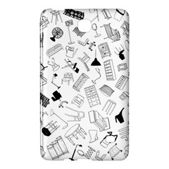 Furniture Black Decor Pattern Samsung Galaxy Tab 4 (7 ) Hardshell Case