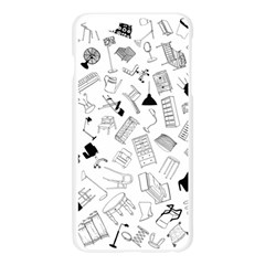 Furniture Black Decor Pattern Apple Seamless iPhone 6 Plus/6S Plus Case (Transparent)