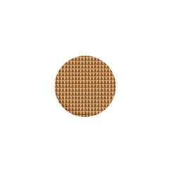 Pattern Gingerbread Brown 1  Mini Buttons