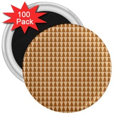 Pattern Gingerbread Brown 3  Magnets (100 Pack)