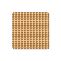 Pattern Gingerbread Brown Square Magnet