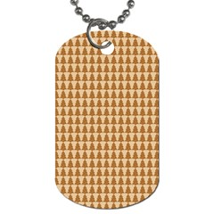 Pattern Gingerbread Brown Dog Tag (One Side)