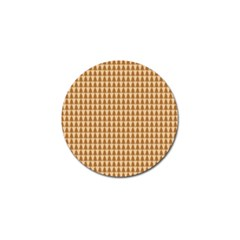 Pattern Gingerbread Brown Golf Ball Marker (4 pack)