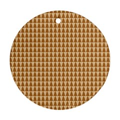 Pattern Gingerbread Brown Round Ornament (Two Sides)