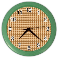 Pattern Gingerbread Brown Color Wall Clocks