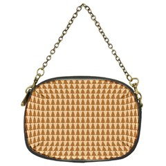 Pattern Gingerbread Brown Chain Purses (two Sides)
