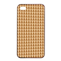 Pattern Gingerbread Brown Apple iPhone 4/4s Seamless Case (Black)