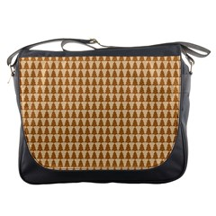 Pattern Gingerbread Brown Messenger Bags