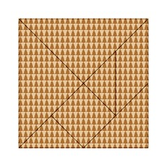 Pattern Gingerbread Brown Acrylic Tangram Puzzle (6  x 6 )