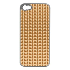 Pattern Gingerbread Brown Apple iPhone 5 Case (Silver)