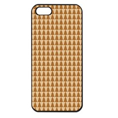 Pattern Gingerbread Brown Apple iPhone 5 Seamless Case (Black)