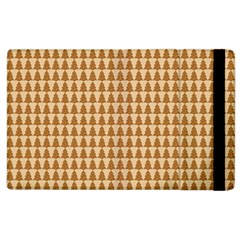 Pattern Gingerbread Brown Apple iPad 2 Flip Case