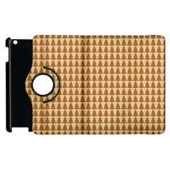 Pattern Gingerbread Brown Apple iPad 2 Flip 360 Case
