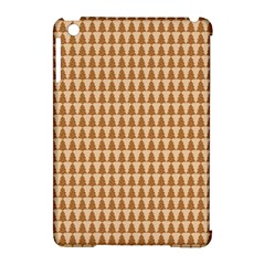 Pattern Gingerbread Brown Apple iPad Mini Hardshell Case (Compatible with Smart Cover)
