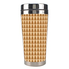 Pattern Gingerbread Brown Stainless Steel Travel Tumblers