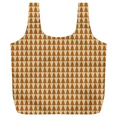 Pattern Gingerbread Brown Full Print Recycle Bags (L)
