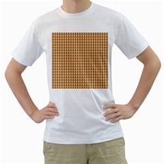 Pattern Gingerbread Brown Men s T-Shirt (White)