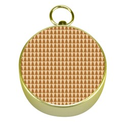 Pattern Gingerbread Brown Gold Compasses
