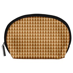 Pattern Gingerbread Brown Accessory Pouches (Large)