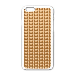 Pattern Gingerbread Brown Apple iPhone 6/6S White Enamel Case