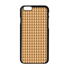 Pattern Gingerbread Brown Apple iPhone 6/6S Black Enamel Case